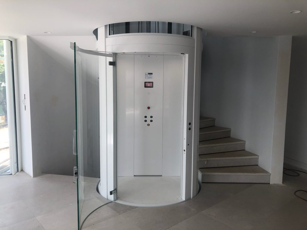 Residential round lift elevator - Mosman NSW