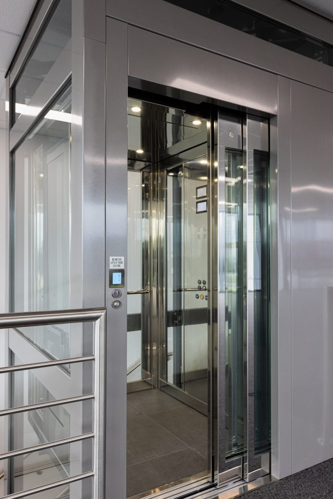 commercial lift with a sleek finish