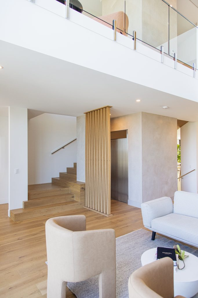royal residential lift with a neutral coloured aesthetic in the home