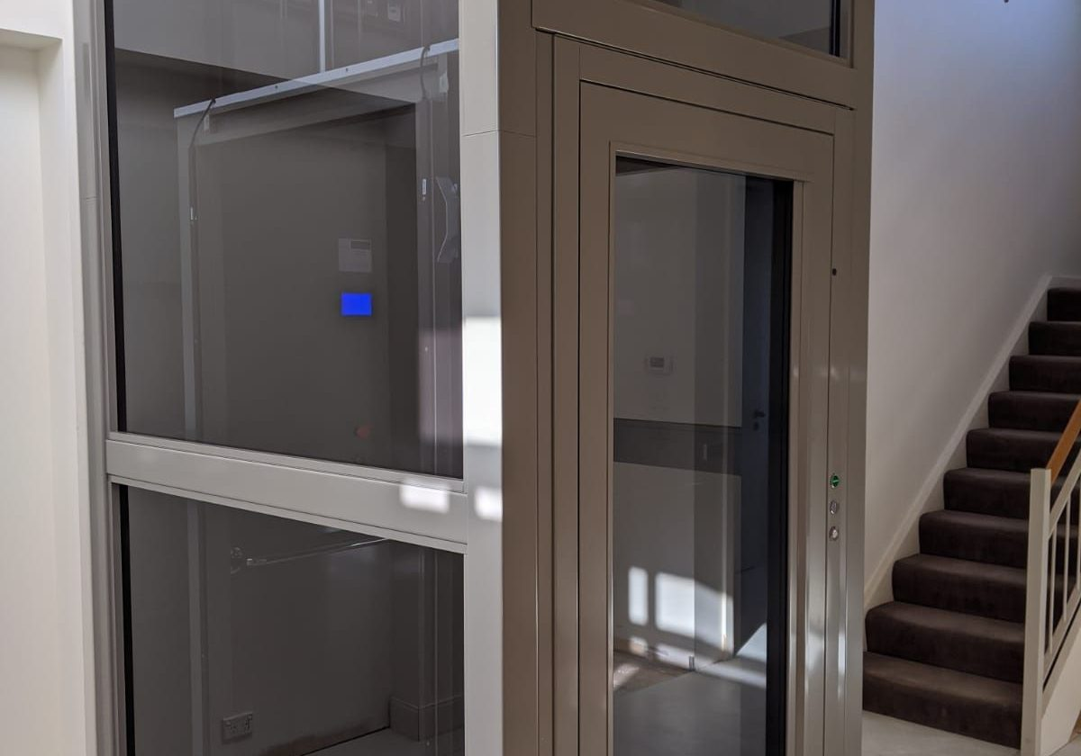 A beautiful grey-coloured lift installed in Toorak