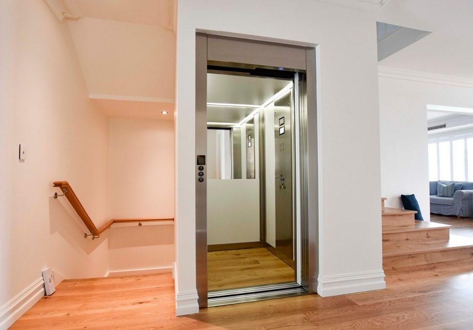 Home lift on middle floor of a 3 story Melbourne home.